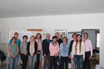 Die Teilnehmer des Workshops zur Leitbildentwicklung des Runden Tisches Betreuung und Familie