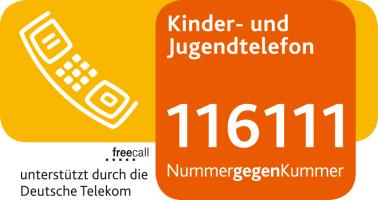 Logo Kinder- und Jugendtelefon Nummer gegen Kummer